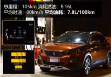 汽车知识科普:2019款标致40081.8T油耗测试