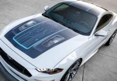 新车资讯:福特在2019年拉斯维加斯举行的SEMA展上用真正的电动野马