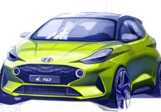 新车资讯:现代汽车将在第三代i10在法兰克福首次亮相之前通过设计草图